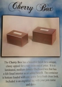 cherry box pet urn
