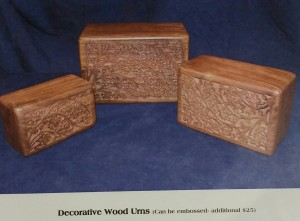 wood box pet urn