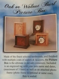 wood photo pet urn