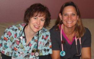 Dr. Karen Louis and Dr. Laura Boeren