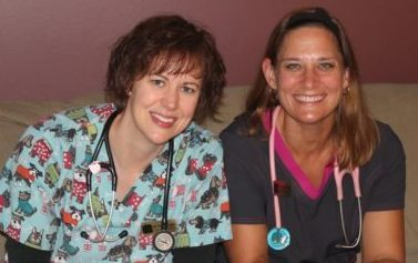 Dr. Karen Louis and Dr. Laura Boeren